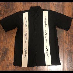 Bowling shirt black and white